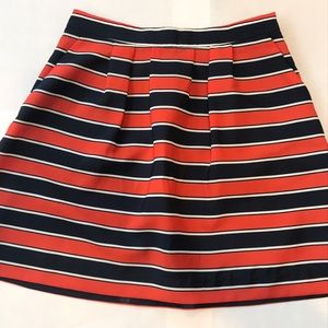 J Crew Striped Skirt